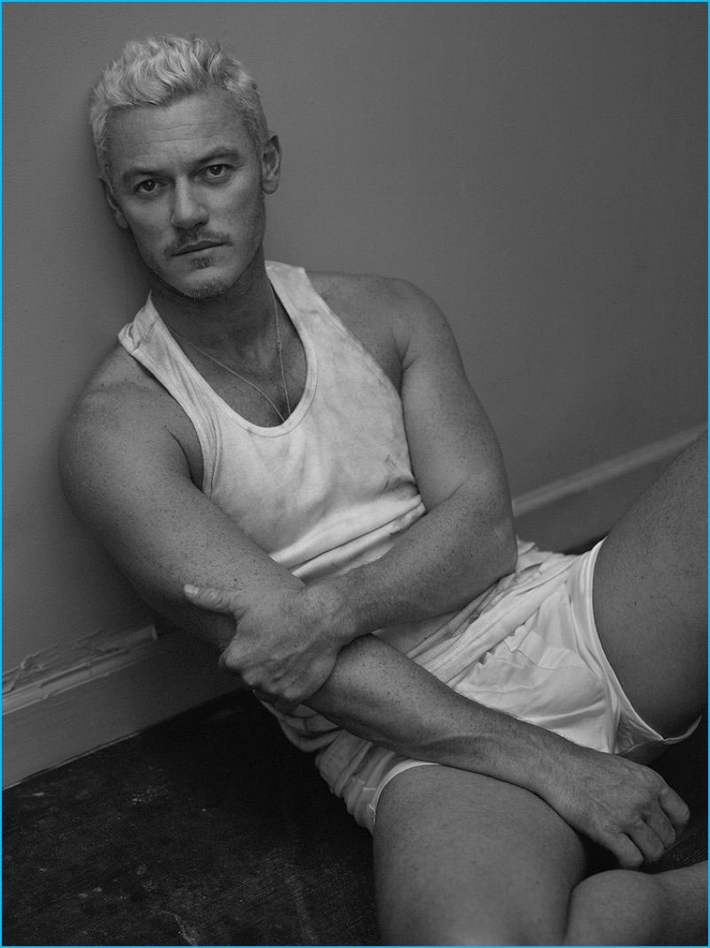 luke evans goes blond for interview shoot talks beauty the english actor luke evans stars in an interview photo shoot wearing a vintage calvin klein