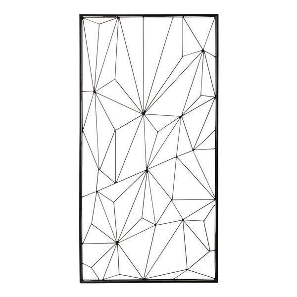 Déco Murale En Métal Noire 62 X 121 Cm Idées Tableau Metal Wall