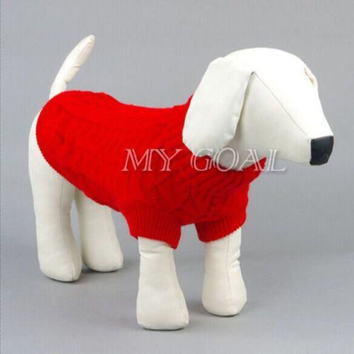 Small pet dog #puppy cat warm #sweater clothes knit coat #winter apparel costumes,  View more on the LINK: http://www.zeppy.io/product/gb/2/351687546875/