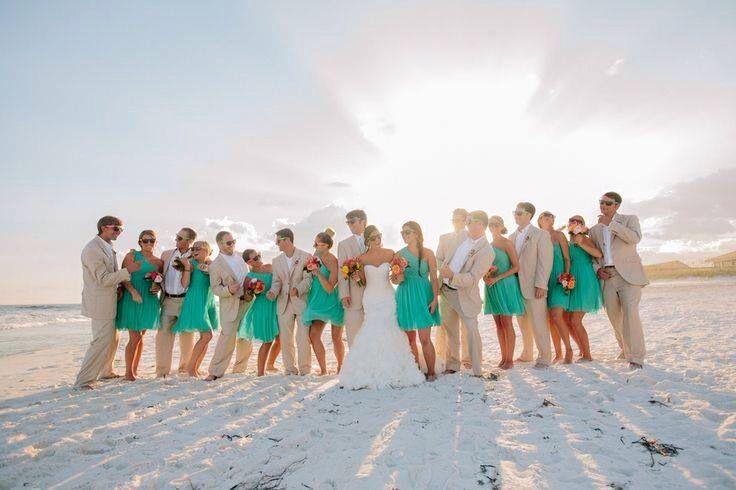 Damas de honor y una boda en la playa, Me encanta!