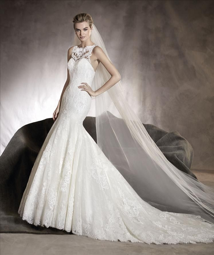 ab90b96a18 Pronovias Alexia Available at Bowties Bridal  (702) 456-5688 Wedding Dresses  Photos