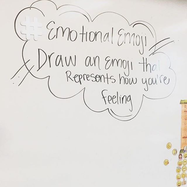 Whiteboard Message Draw an Emoji that represents how you