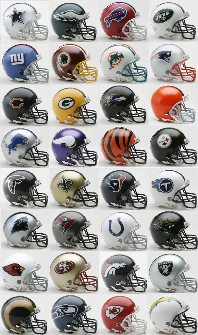 NFL Riddell Mini Helmets (NOT the Speed). Any team (except