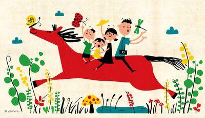 happy horse by Joanne Liu
