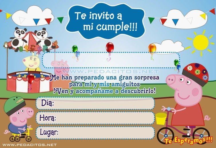 Invitaciones De Peppa Pig Para Editar Gratis Buscar Con