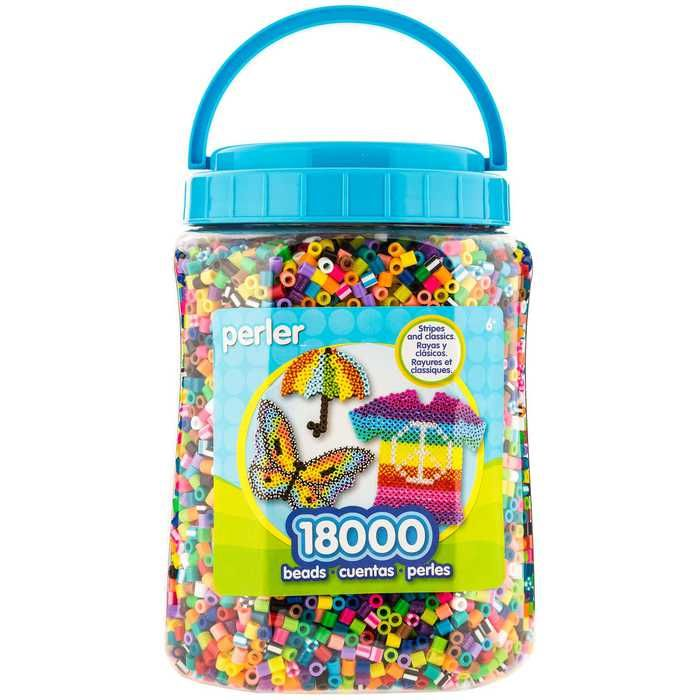 18,000 Perler Bead Jar | Minions | Perler beads, Beads, Crafts