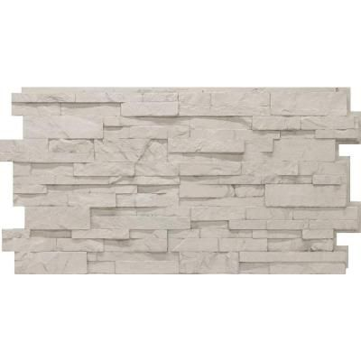 Urestone Stacked Stone 50 Antique White 24 In X 48 In Stone Veneer Panel 4 Pack Dp2625 50