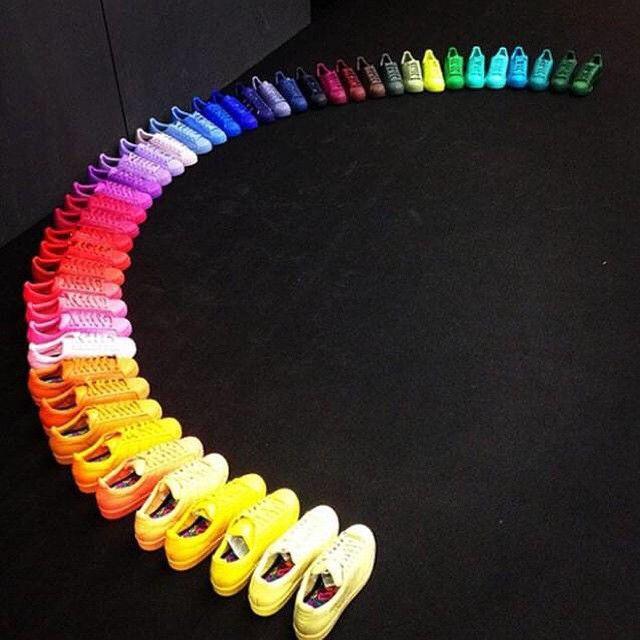 folgen der regenbogen - für einen topf mit adidas schuhe pinterest