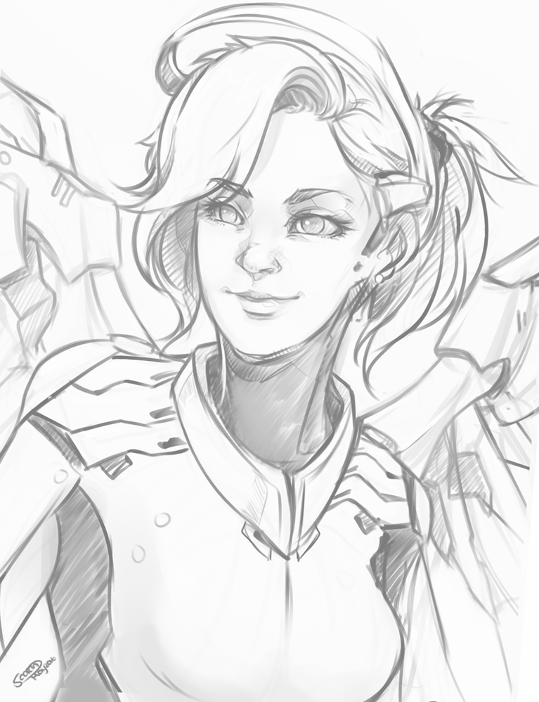 D Line Drawing Easy : Overwatch mercy by scorch d pretty funny pinterest