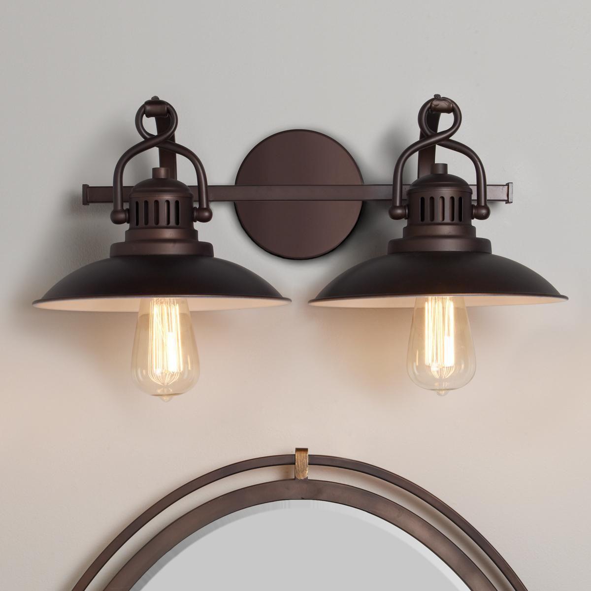 Station Lantern Bath Light 2 Light Bath Light