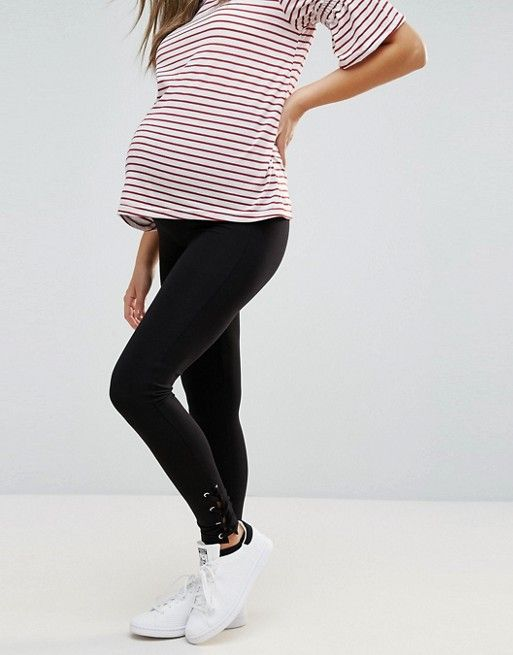 ea363830bb6d4 New Look Maternity Lace Up Ankle Leggings | so fly | Lace, Fashion ...