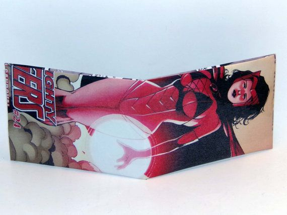 Comic Book Wallet// Scarlet Witch, $4.00