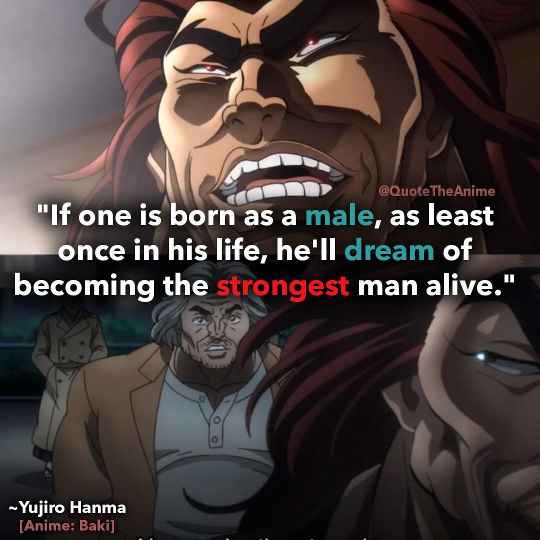 11 Crazy Baki Quotes New 2019 With Hq Images Anime Anime