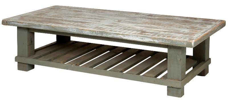 Beachwood Australian Recycled Timber Coffee Table With Shelf