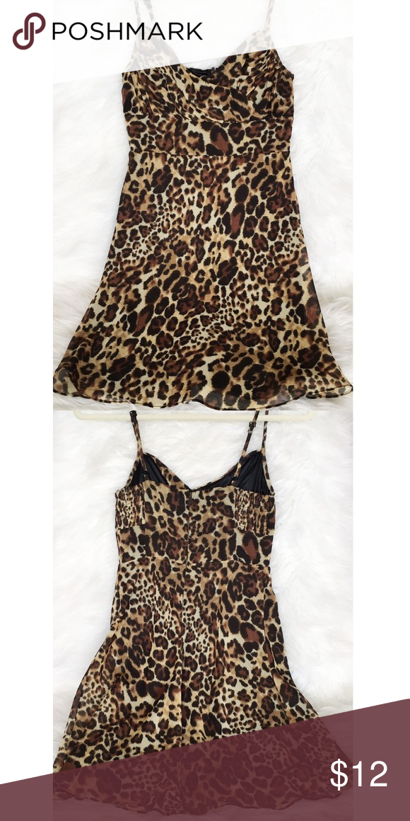 8bd5ff22ae GUESS Leopard Print Dress Guess leopard print mini dress. Sz 1. Super cute!  😆 One of my favorites! Excellent preloved condition. 💗 NO TRADES. PRICE  FIRM.
