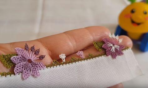 İğne Oyası Çiçek Modelleri Yazma