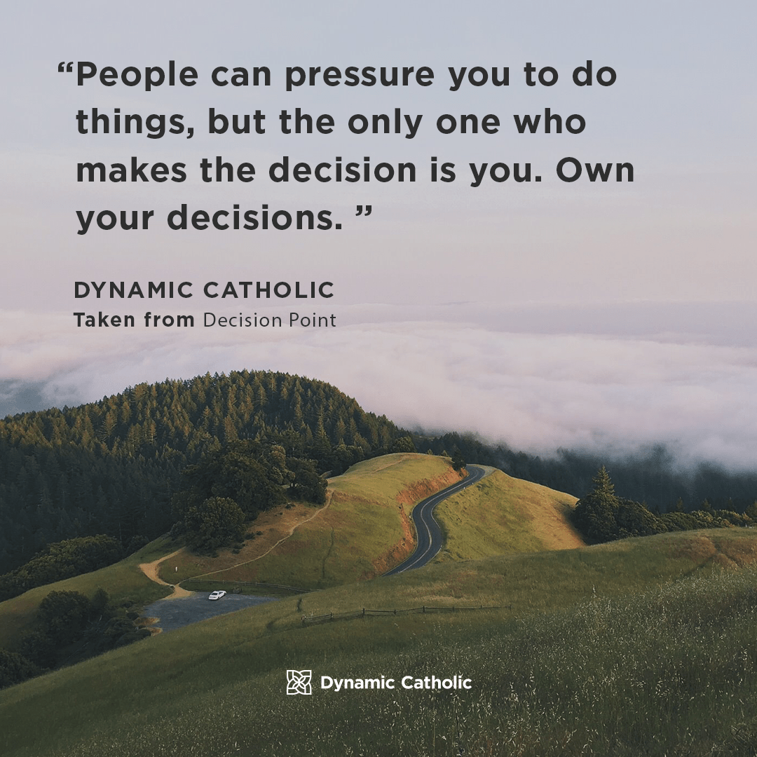 People Can Pressure You To Do Things But The Only One