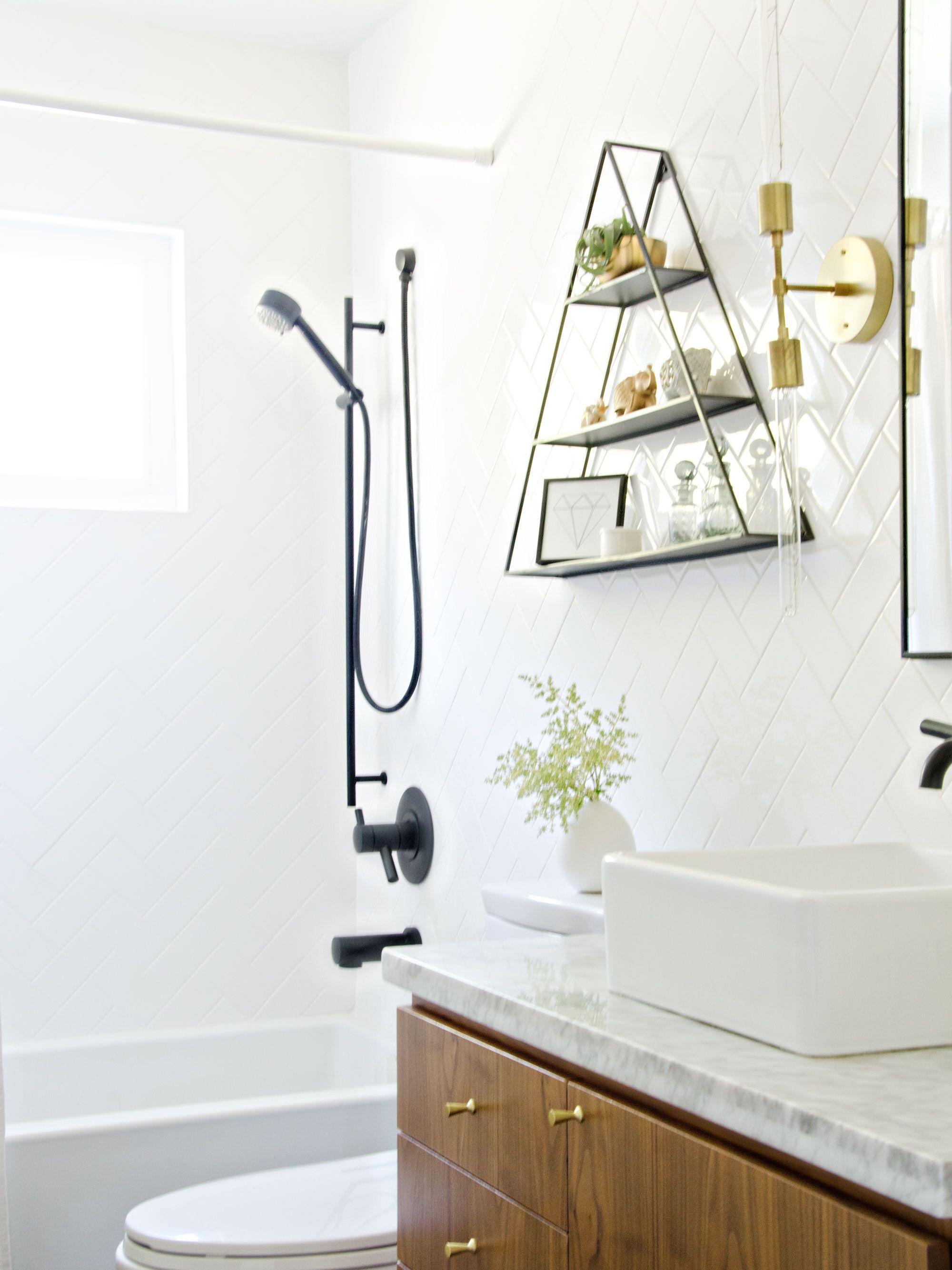 Black White & Walnut bathroom | brittanyMakes | Bathrooms ...
