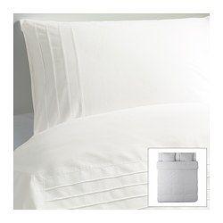 alvine str housse de couette et taie blanc 150x200 50x60 cm couettes et ikea. Black Bedroom Furniture Sets. Home Design Ideas