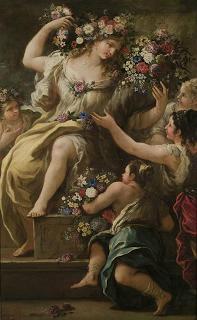 Flora,Roman Goddess of flowers. OK , so she is not a real person but Flora certainly had an influence in early Greek and Roman societies and later in the art world. But alr. Andrea Mantegna, Greek And Roman Mythology, Flora Flowers, Moon Garden, Sacred Feminine, Luca, Beltane, Italian Painters, Gods And Goddesses