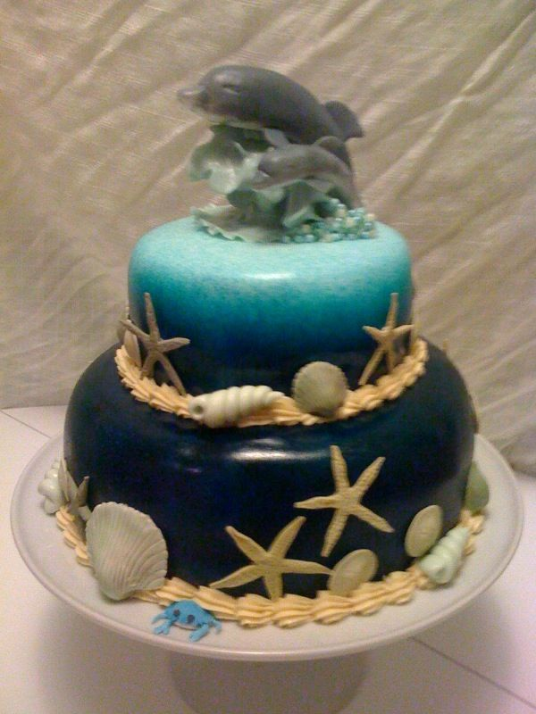 Dolphin Fondant Cake Flirting With Frosting Gumpaste