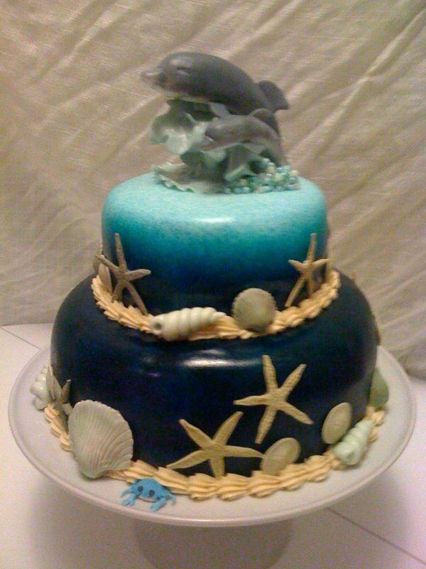 Dolphin Fondant Cake Flirting With Frosting Gumpaste