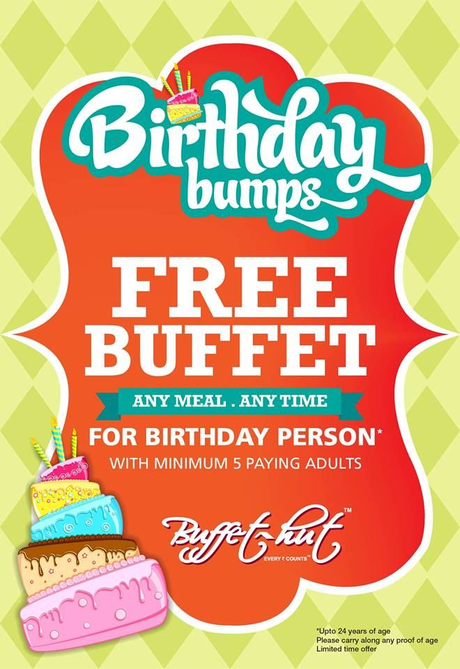 adc7b0e9632 Free Buffet for Birthday Person with minimum 5 Paying Adults   BUFFET HUT  in Chandigarh