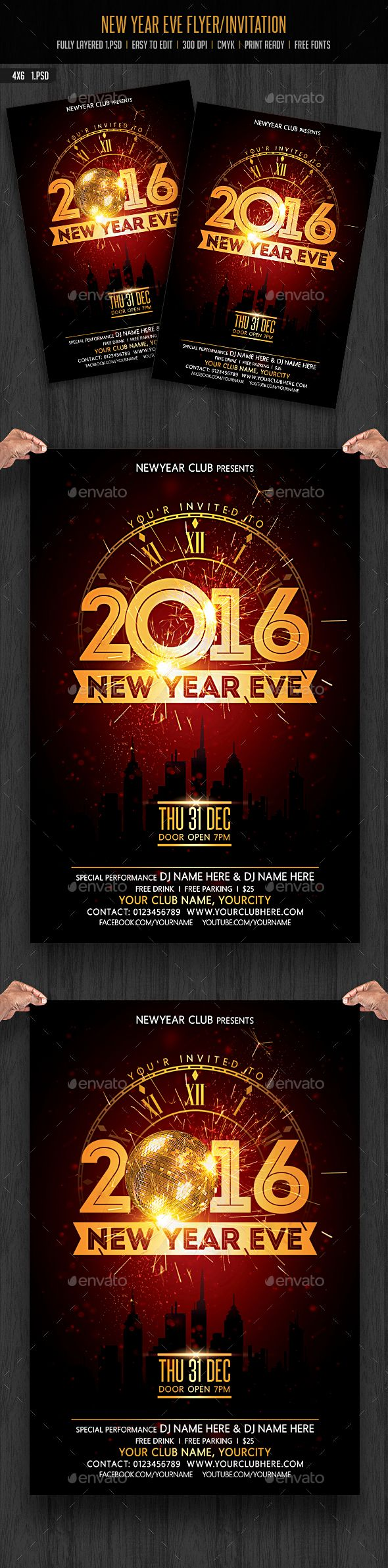 new year eve flyer invitation party events new years party new year eve flyer invitation photoshop psd new year party flyer