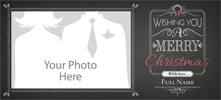 "Why You'll Love Black Chalkboard Horizontal Flat Holiday Cards - 4""x8"""