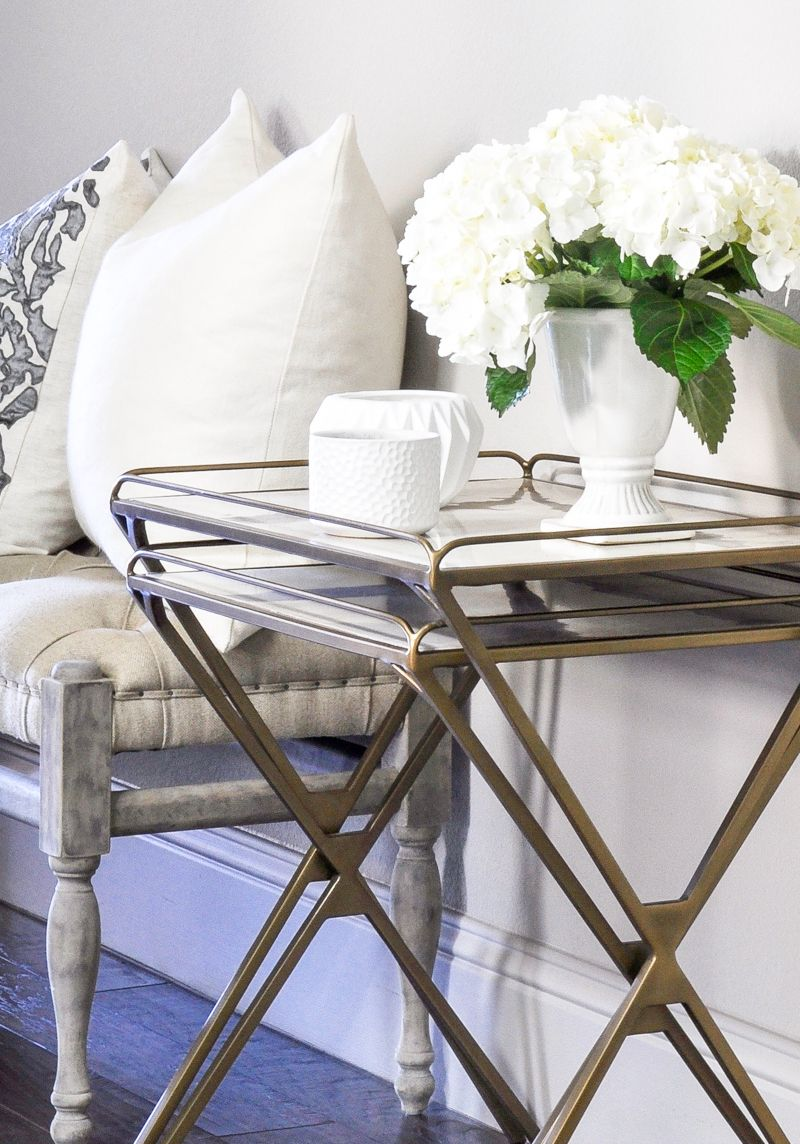 Nesting tables in entry hall...so pretty
