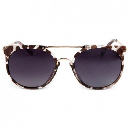 65afc0486b3 Sole Society - Round bar sunglassess - Cami - Clear Tortoise