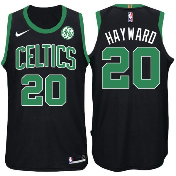 new products f5f1d b7617 gordon hayward jersey black