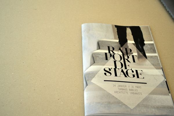 rapport de stage on behance