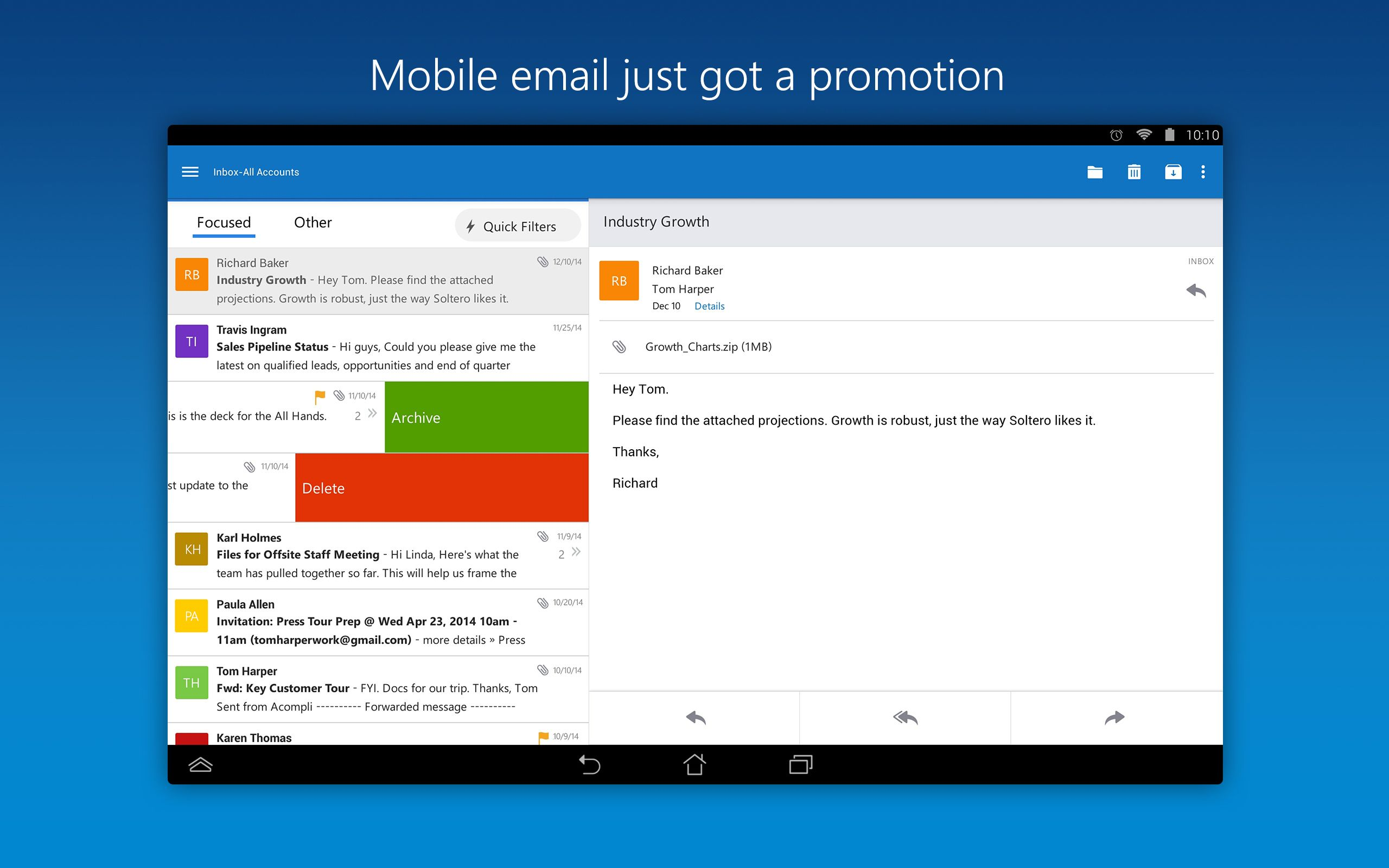 Microsoft Launches Outlook For Ios And Android Android