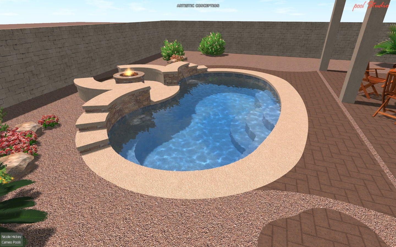 Pollard0511 008 Small Backyard Pools Spool Pool