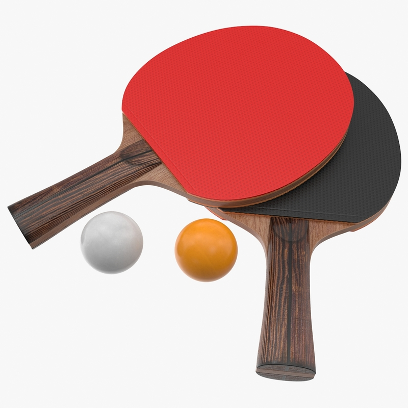 3d Ping Pong Paddle Model Turbosquid 1378697 Ping Pong Paddles Ping Pong Paddle