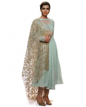 dda13391dc94e4 Mint Green Anarkali Suit- Buy Suits