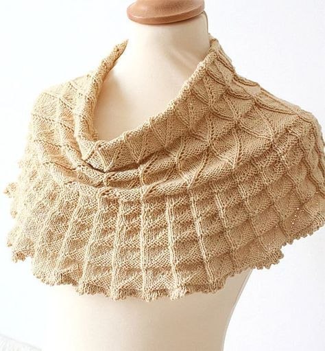 Knitting Pattern for Lace Triangles Cowl - Shoulder cozy ...