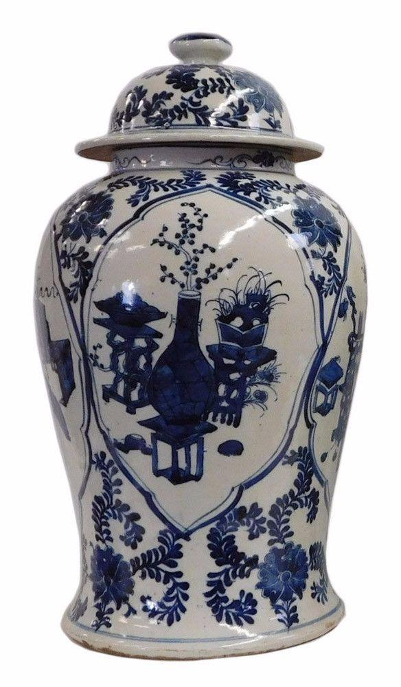 Fine China Hand Painted flower Blue and White Porcelain vase /& Jar