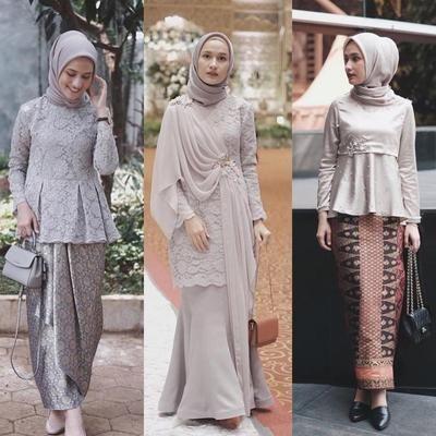Gamis Brokat Wanita Model Pakaian Hijab Model Baju Wanita