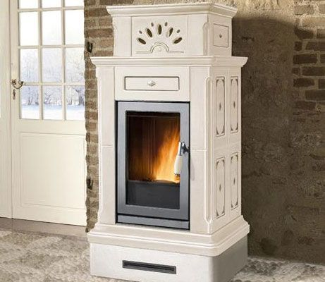 Piazzetta Canazei Pellet Stove Pellet Stove Retro Beach House Wood Stove Fireplace