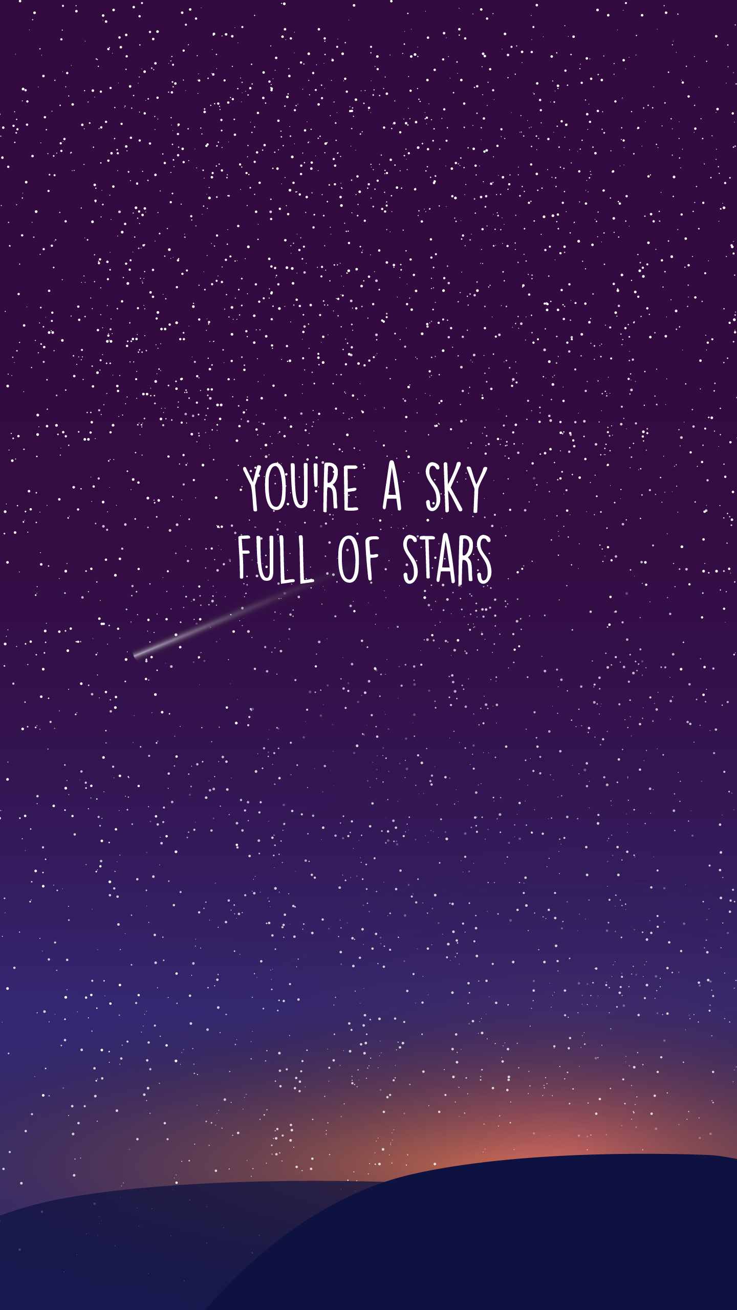 You Re A Sky Full Of Stars Sky Full Of Stars Moon And Stars Wallpaper Coldplay Wallpaper