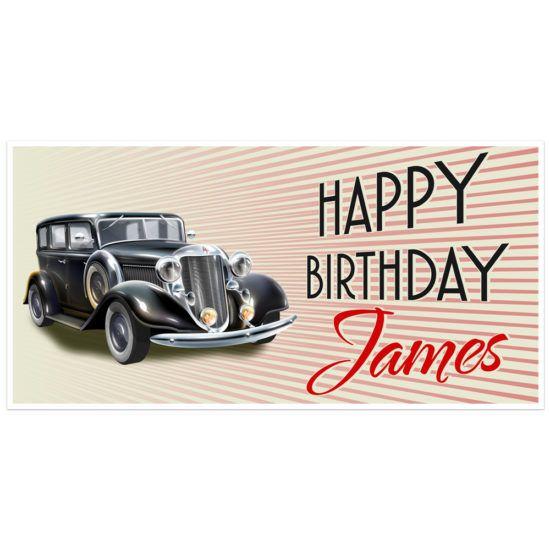 Cars Happy Birthday Banner 26