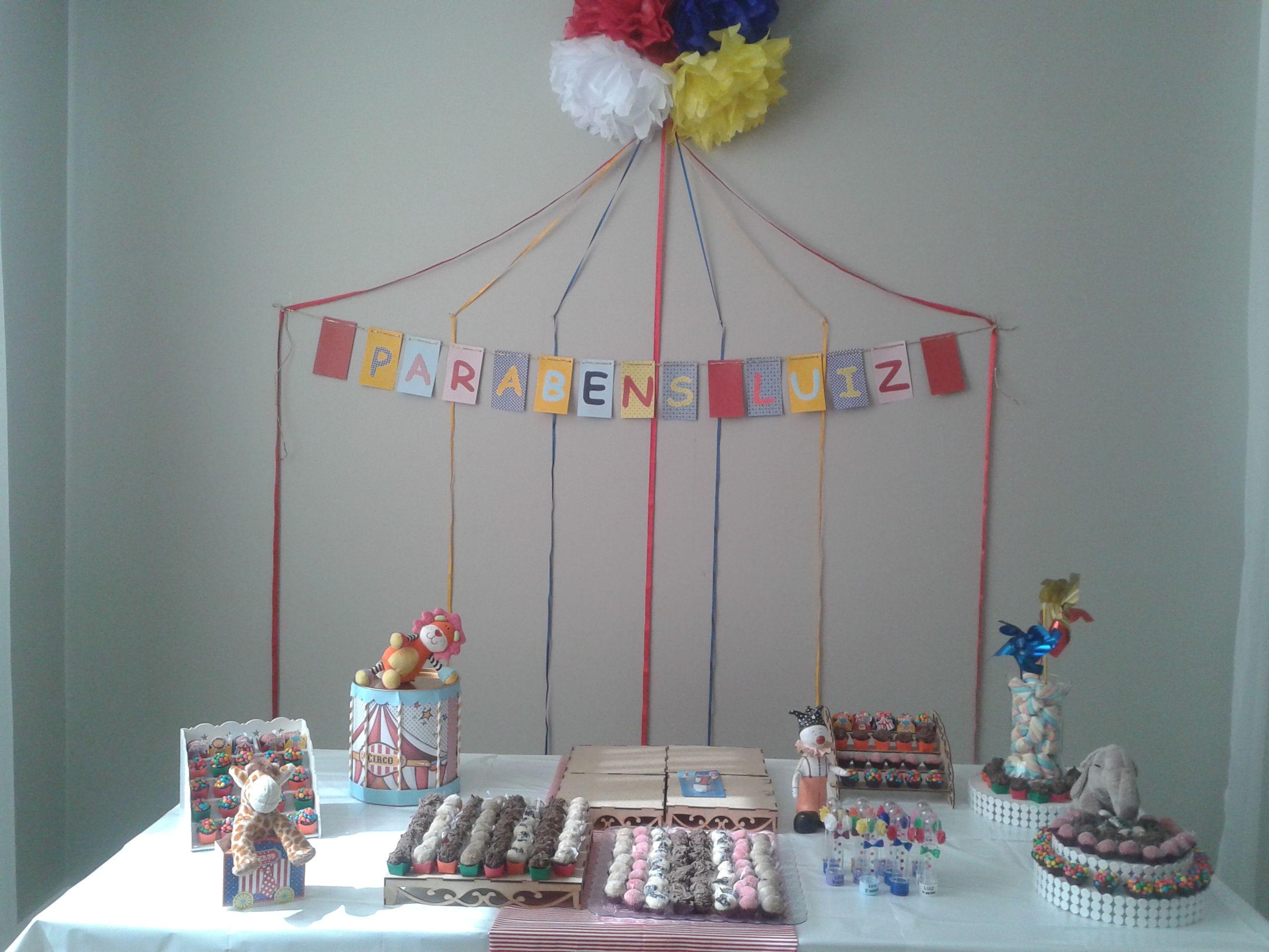 Festa de um ano do Luiz. Decoração realizada por Gloria C. Coelho, Luciana Campanille e Renata Sollero