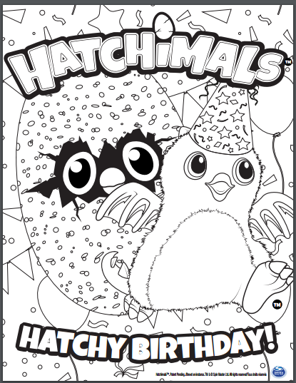Hatchimals Coloring Pages | Birthday coloring pages, Space ...