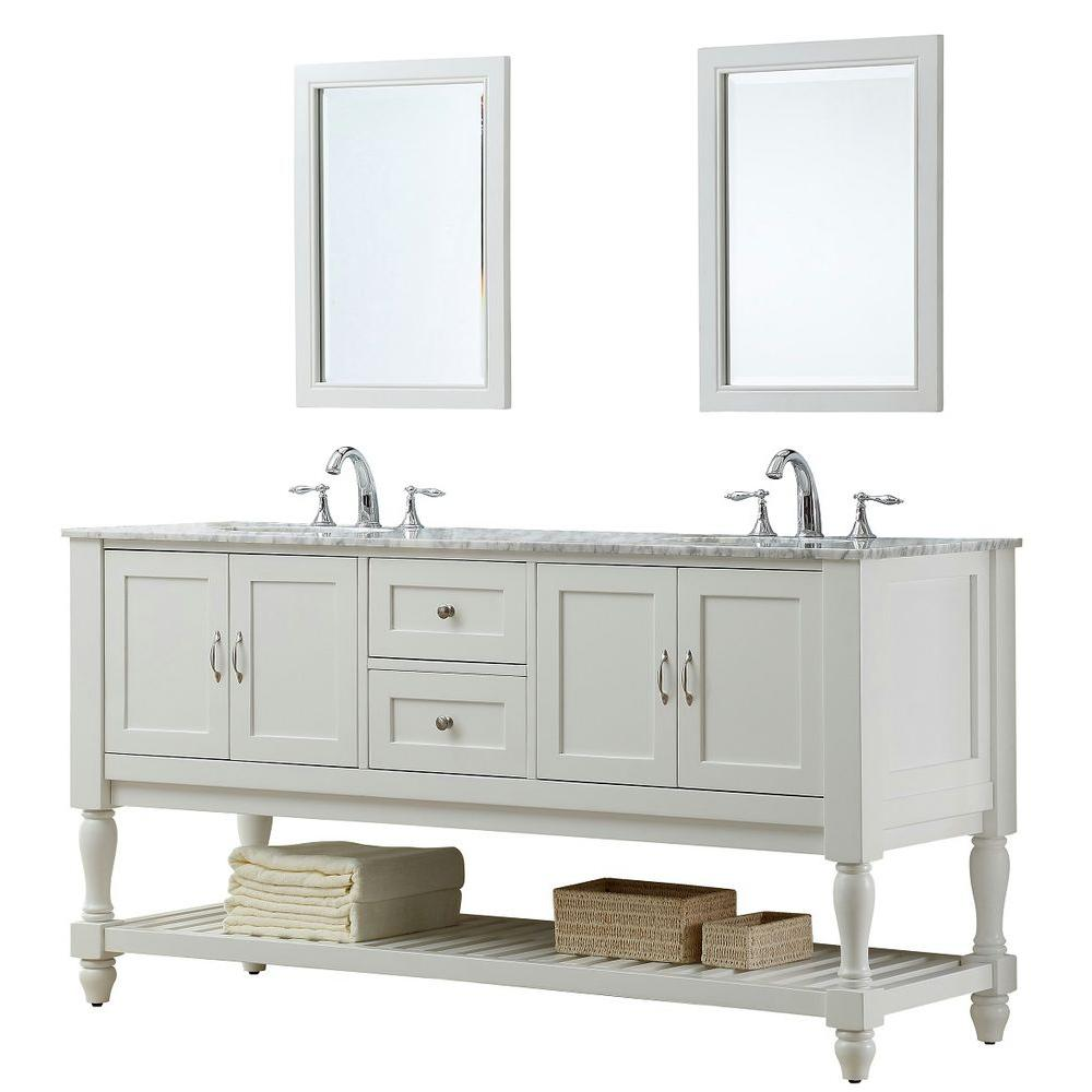 Direct Vanity Sink Mission Turnleg 70 In Double Vanity In Pearl