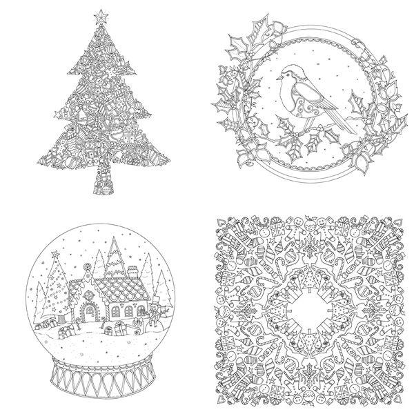 Johanna Basford Christmas Mini Coloring Book