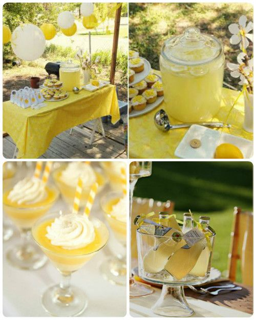 Wedding Party Color Ideas: Perfect Bridal Shower Color Scheme: Yellow And White