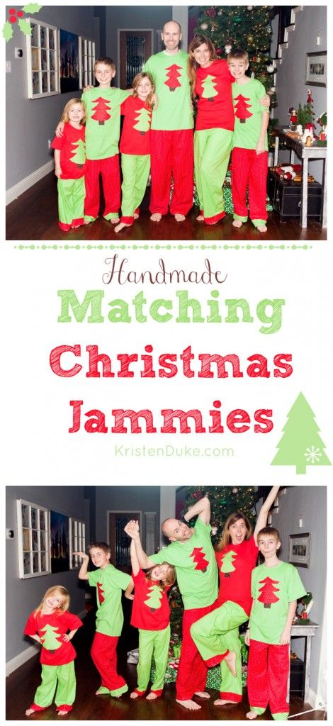 Here's a fun Christmas tradition to start for your family - sew some matching pj's for a fun morning | Christmas Pajamas by KristenDuke.com