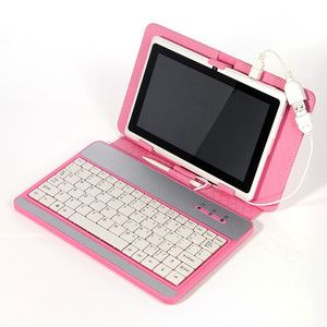 White 7 Android 4 0 Tablet Pc 4gb Bundle Pink Leather Case Usb Keyboard Otg Leather Case Otg Android 4
